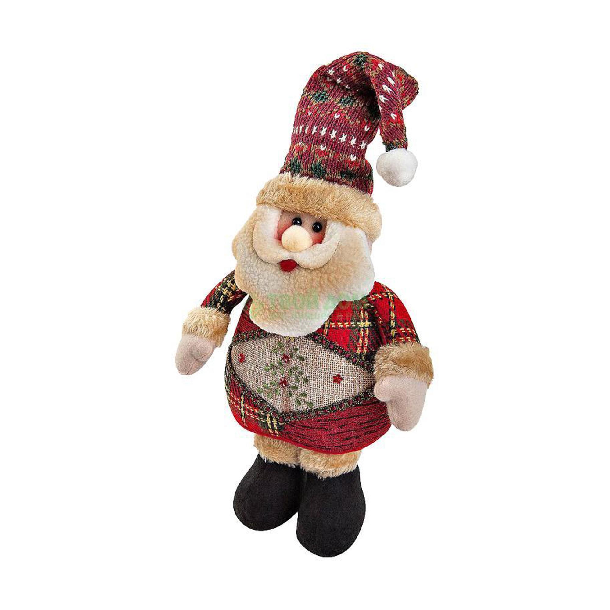 Купить Мягкая игрушка Mister Christmas ДЕД МОРОЗ H=28СМ (CHL-500SN), Китай, коричневый, красный, текстиль