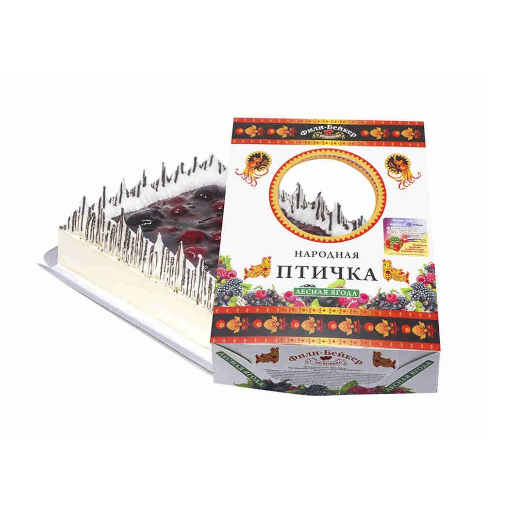 Торт бисквитный Народная птичка Фили-Бейкер Лесная ягода 700 г фото