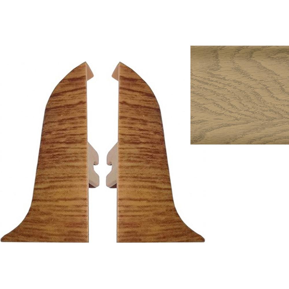 Комплект заглушек для плинтуса T.plast 47 мм Ильм светлый 2 шт