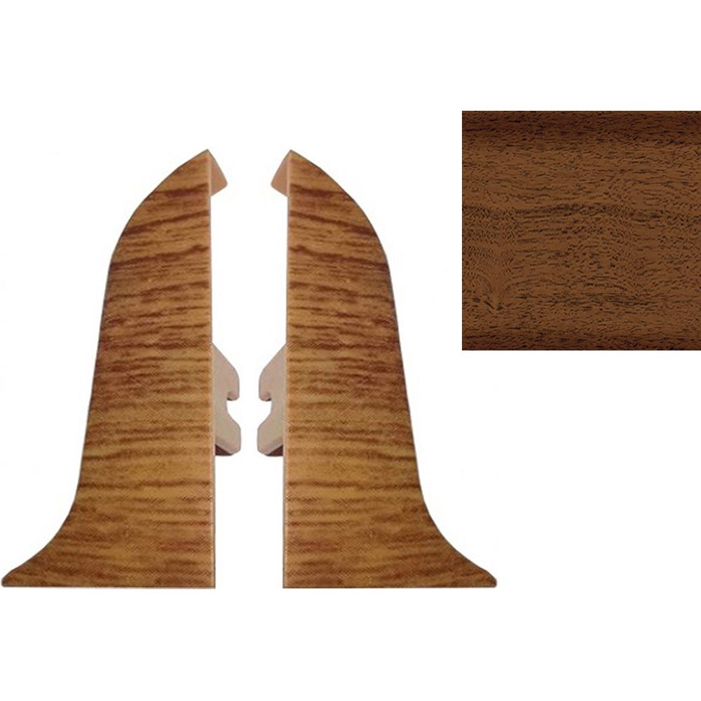 Комплект заглушек для плинтуса T.plast 47 мм Орех антик 2 шт