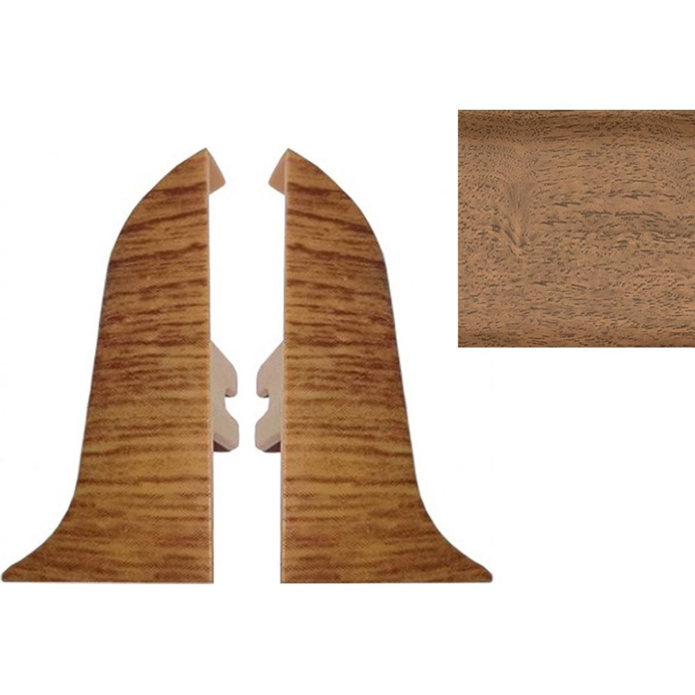 Комплект заглушек для плинтуса T.plast 47 мм Орех светлый 2 шт