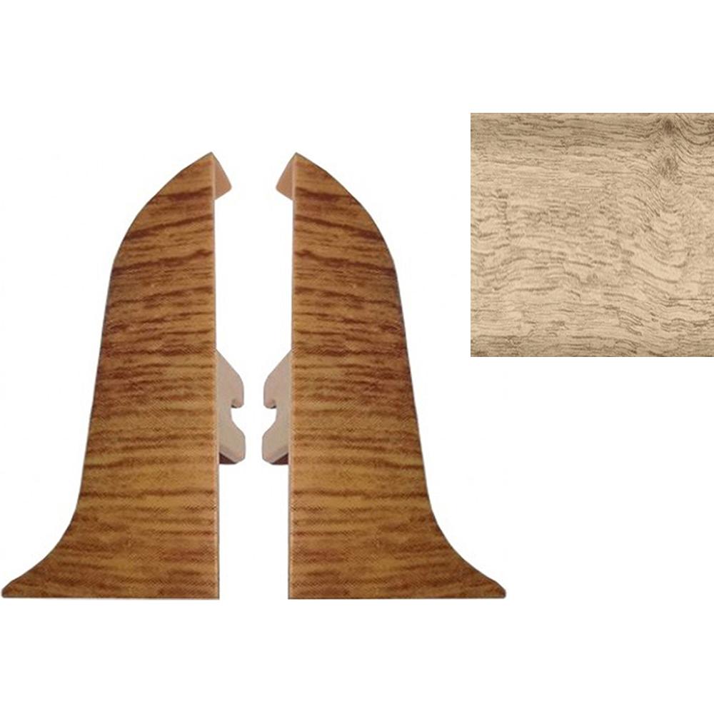 Комплект заглушек для плинтуса T.plast 47 мм Дуб беленый 2 шт