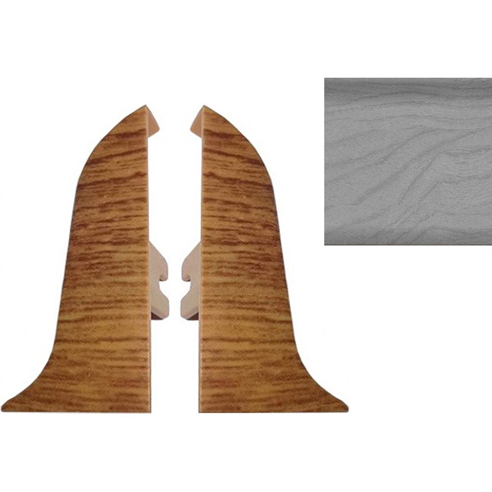 Комплект заглушек для плинтуса T.plast 47 мм Сосна серая 2 шт