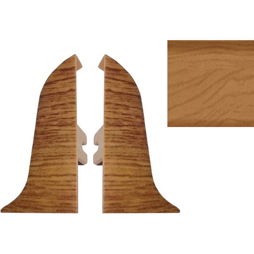 Комплект заглушек для плинтуса T.plast 47 мм Вишня степная 2 шт