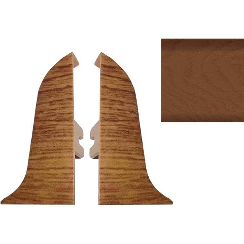 Комплект заглушек для плинтуса T.plast 47 мм Кемпас тонированный 2 шт