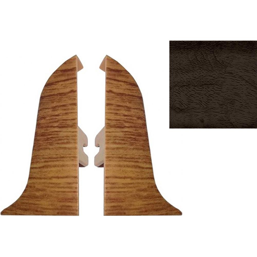 Комплект заглушек для плинтуса T.plast 47 мм Орех бразильский темный 2 шт