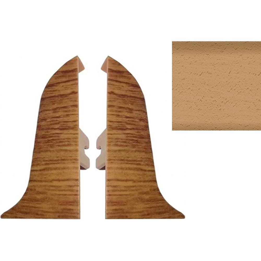 Комплект заглушек для плинтуса T.plast 47 мм Бук энглера светлый 2 шт