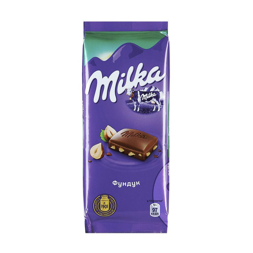 Шоколад Milka молочный с фундуком 90 г шоколад chokodelika молочный с кешью 80 г