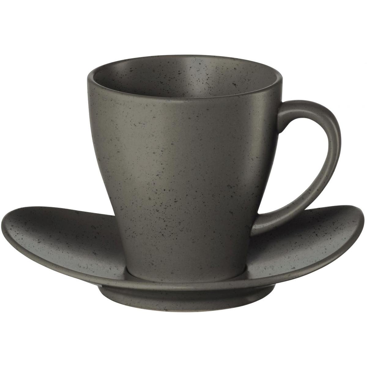 Фото - Чашка с блюдцем Asa selection cuba чашка с блюдцем 210мл серый asa selection