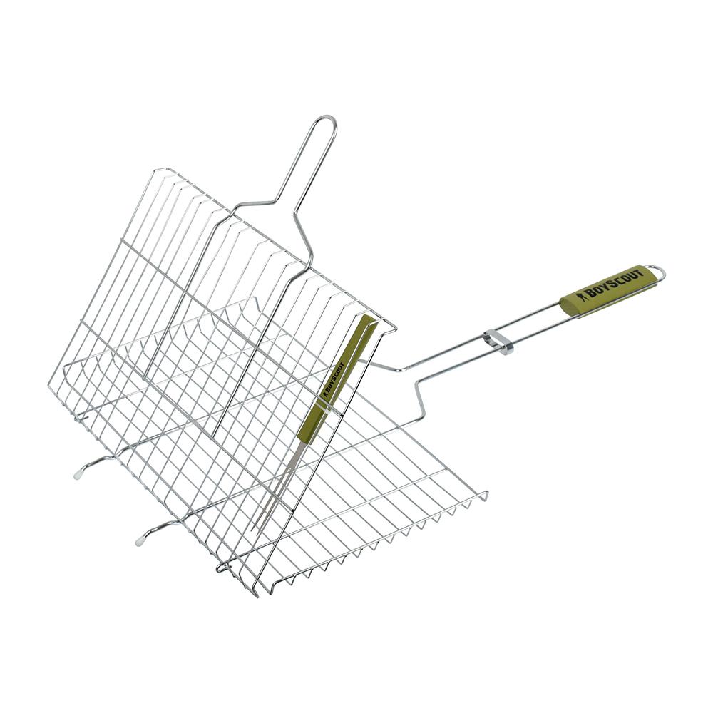 Решетка-гриль для стейков большая с вилкой Boyscout