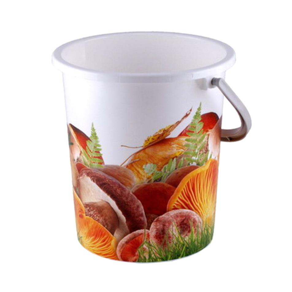 Ведро Полимербыт Грибы 9 л чайник avsar грибы 3 л