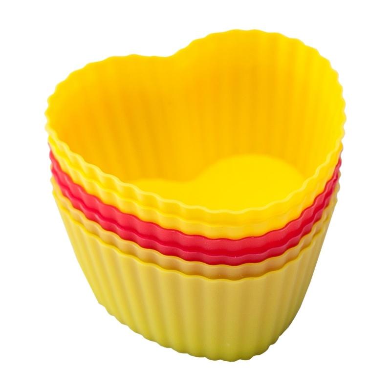 Купить Набор форм для кексов Flex Mode 6 шт, Италия, желтый, красный, силикон
