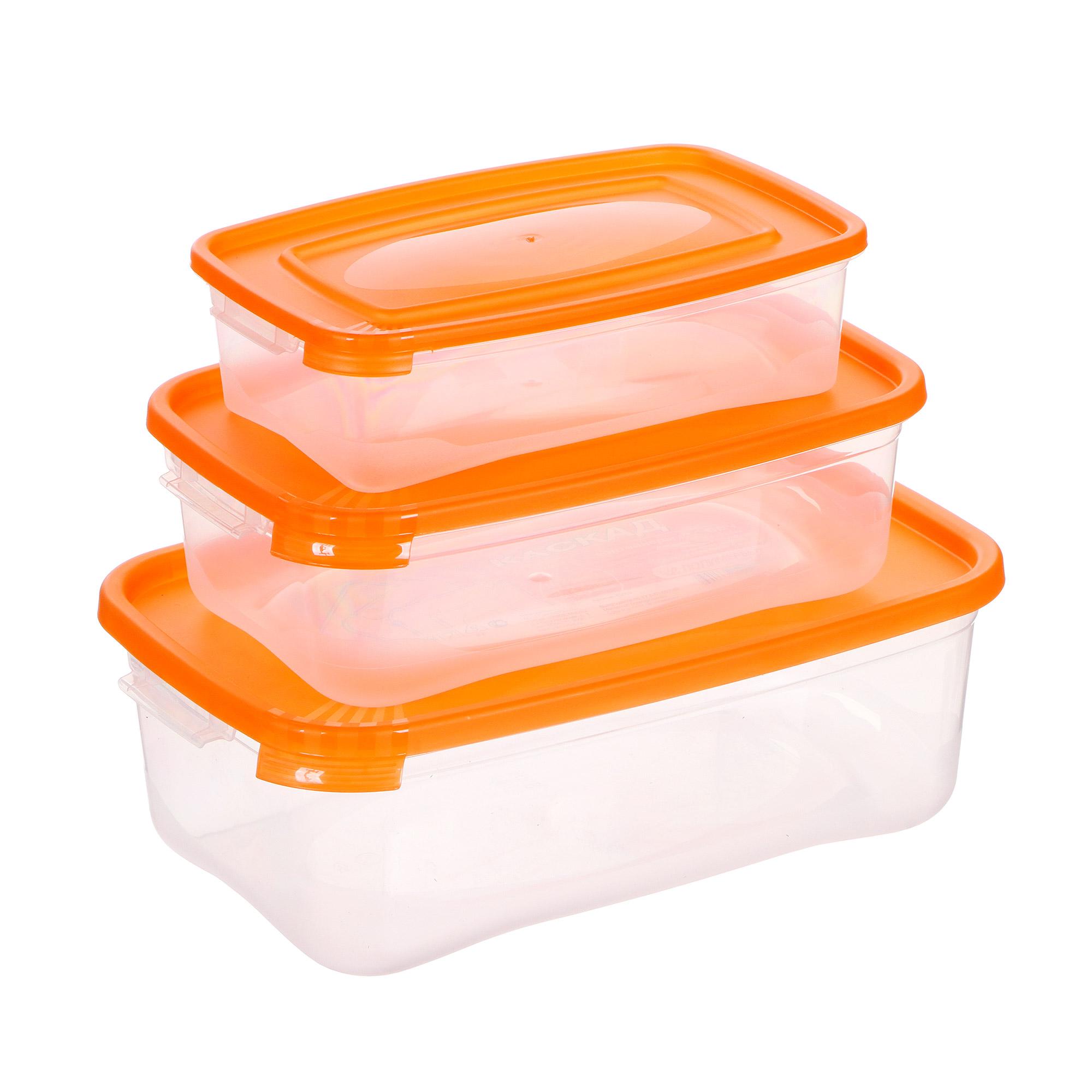 Фото - Комплект контейнеров для СВЧ Полимербыт Каскад 0,7 л + 1,2 л + 2,2 л пароварка полимербыт для свч 2 5 л