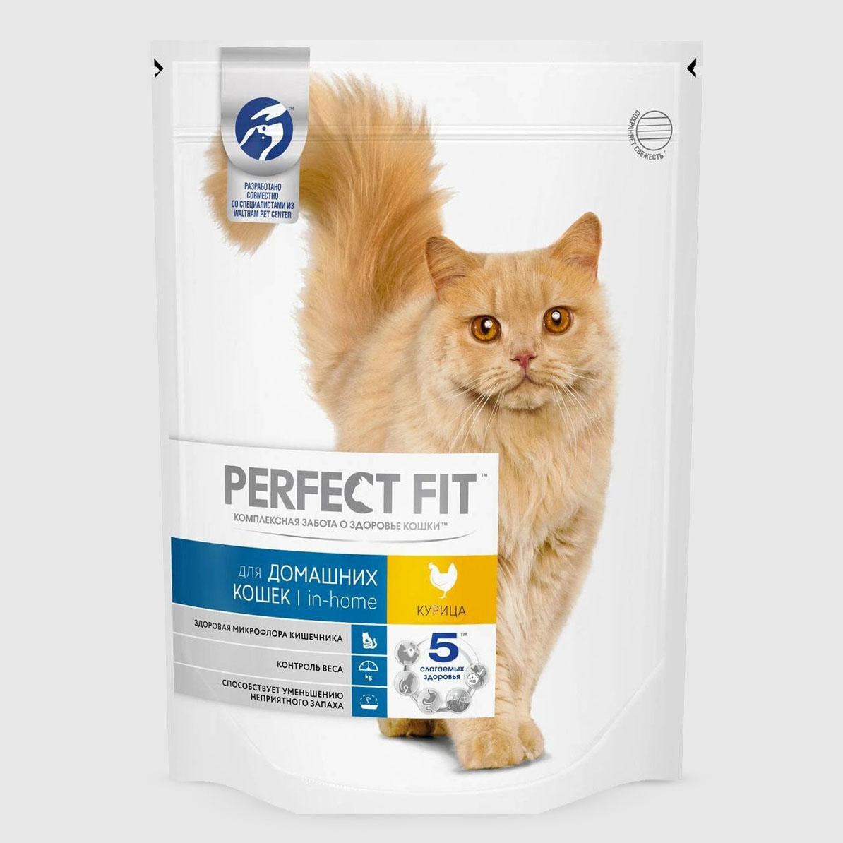 Корм для кошек Perfect Fit in-home с курицей 650 г