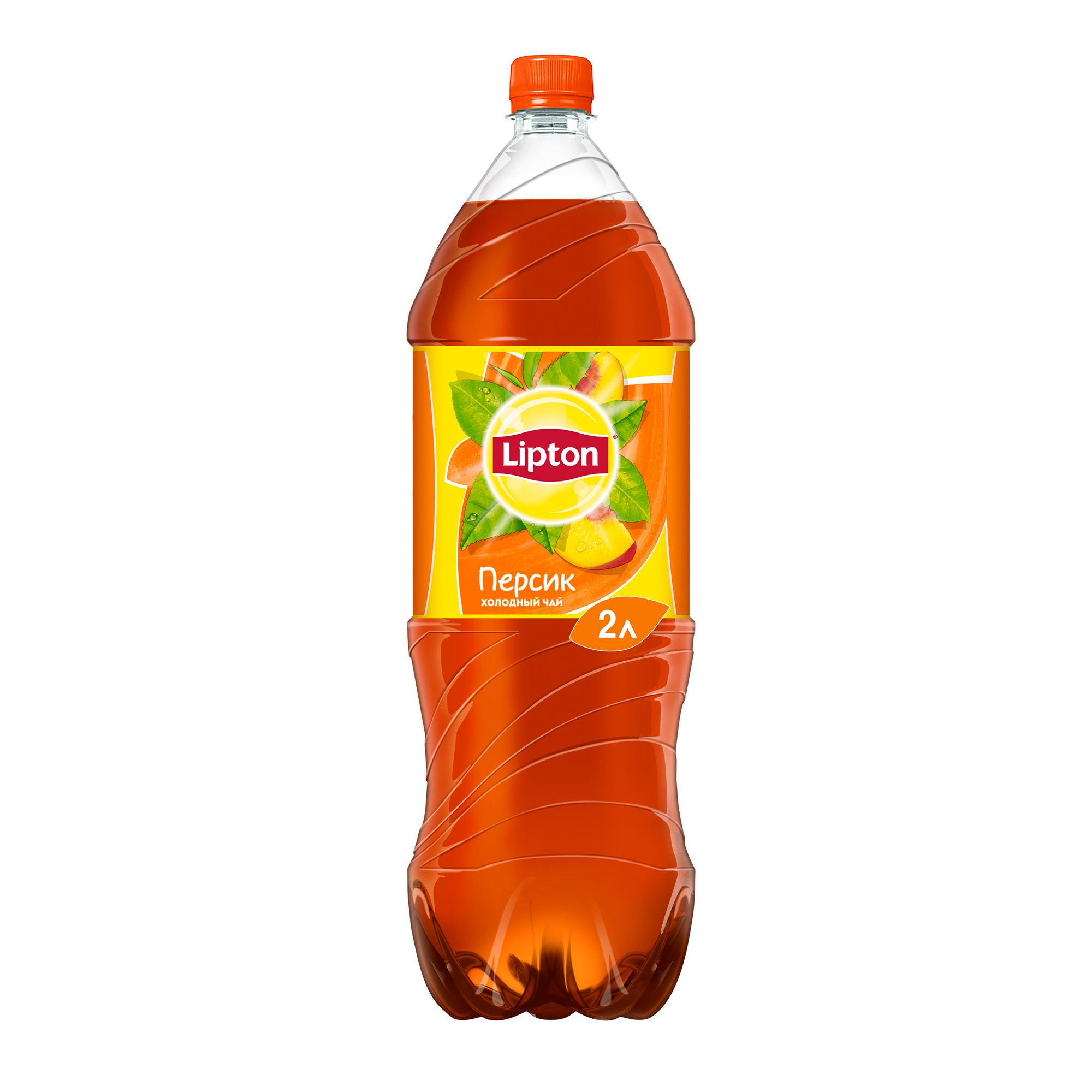Холодный чай Lipton Черный Персик 2 л чай черный lipton pina colada в