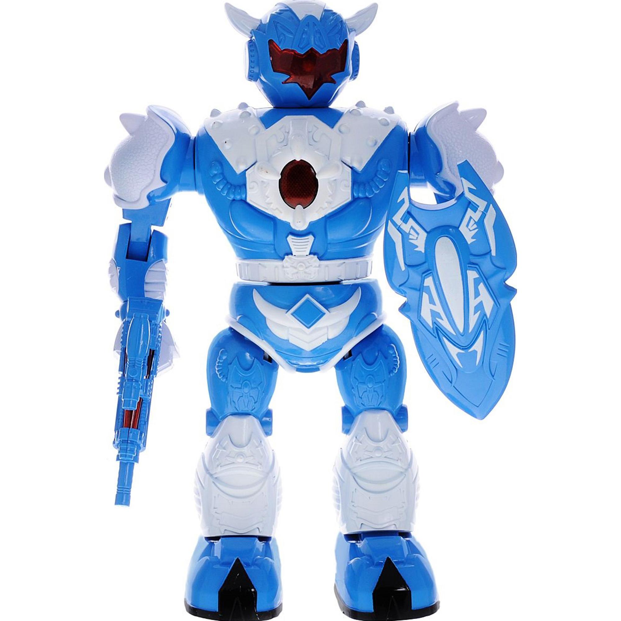 Электронная игрушка ABtoys Робот с бластером и щитом фото