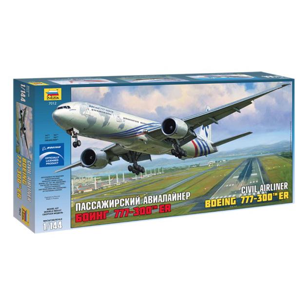 Купить Модель сборная авиалайнер боинг-777-300er Звезда 7012З, Россия, Набор для моделирования