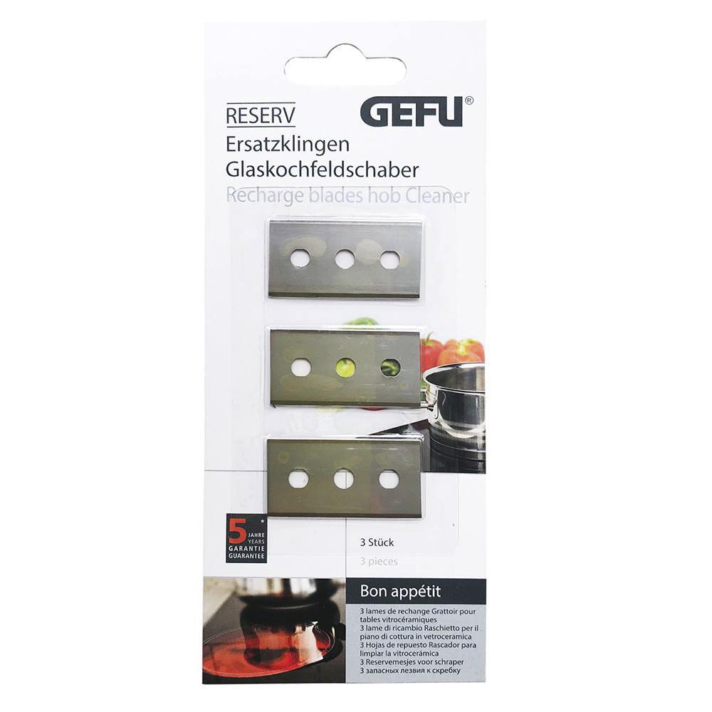 Запасные лезвия для скребка Gefu 3 шт metzger лезвия для скребка педикюра для скребка 892 3 и 892 4 упаковка 10 лезвий