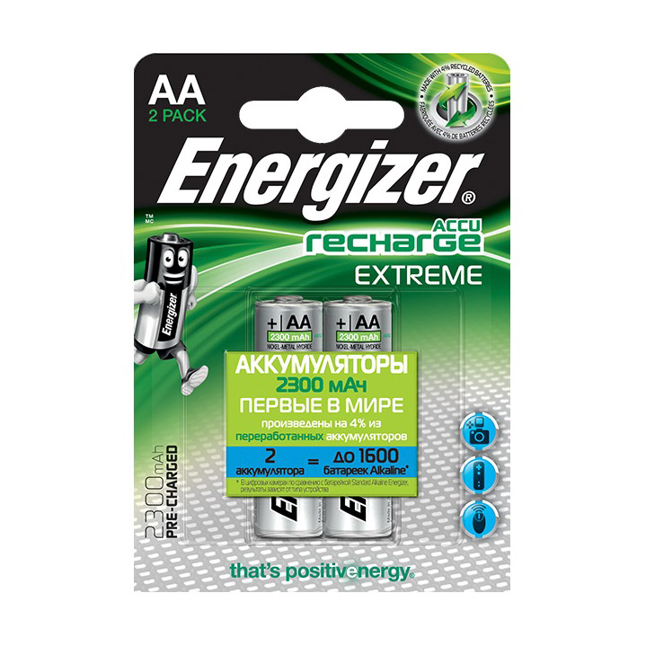 Аккумулятор Energizer Extreme NH15 BP2 Pre-Ch 2300 mAh 2 шт фото