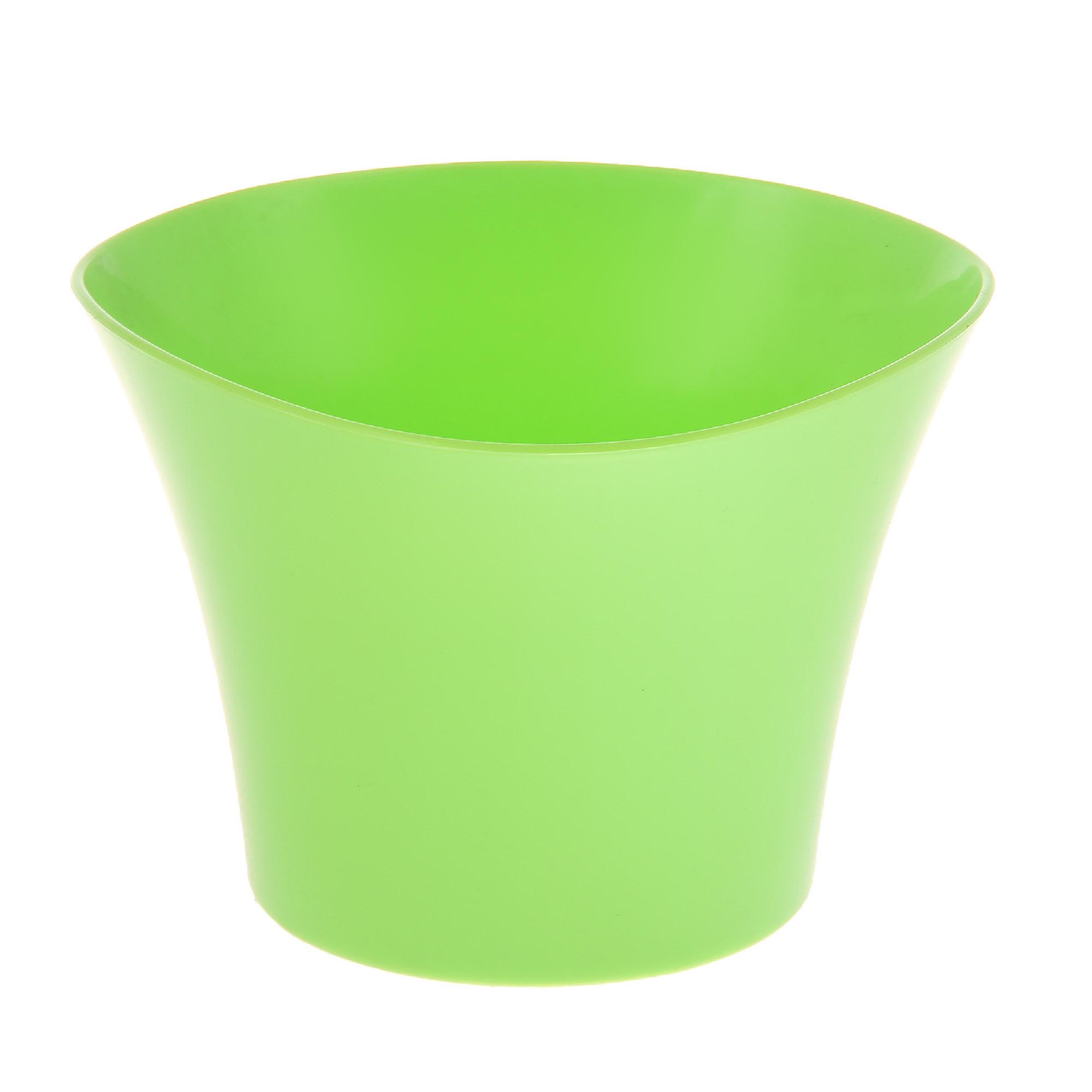 Кашпо Интерлинк волна 20 см зеленый кашпо интерлинк волна 12 см бирюзовый