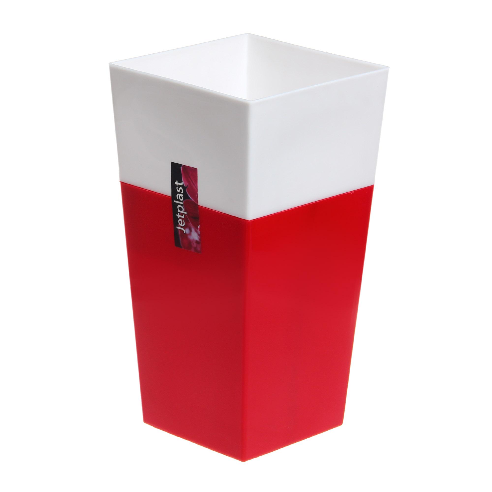Кашпо Интерлинк дуэт260 26 см красно-белый кашпо интерлинк волна 12 см бирюзовый