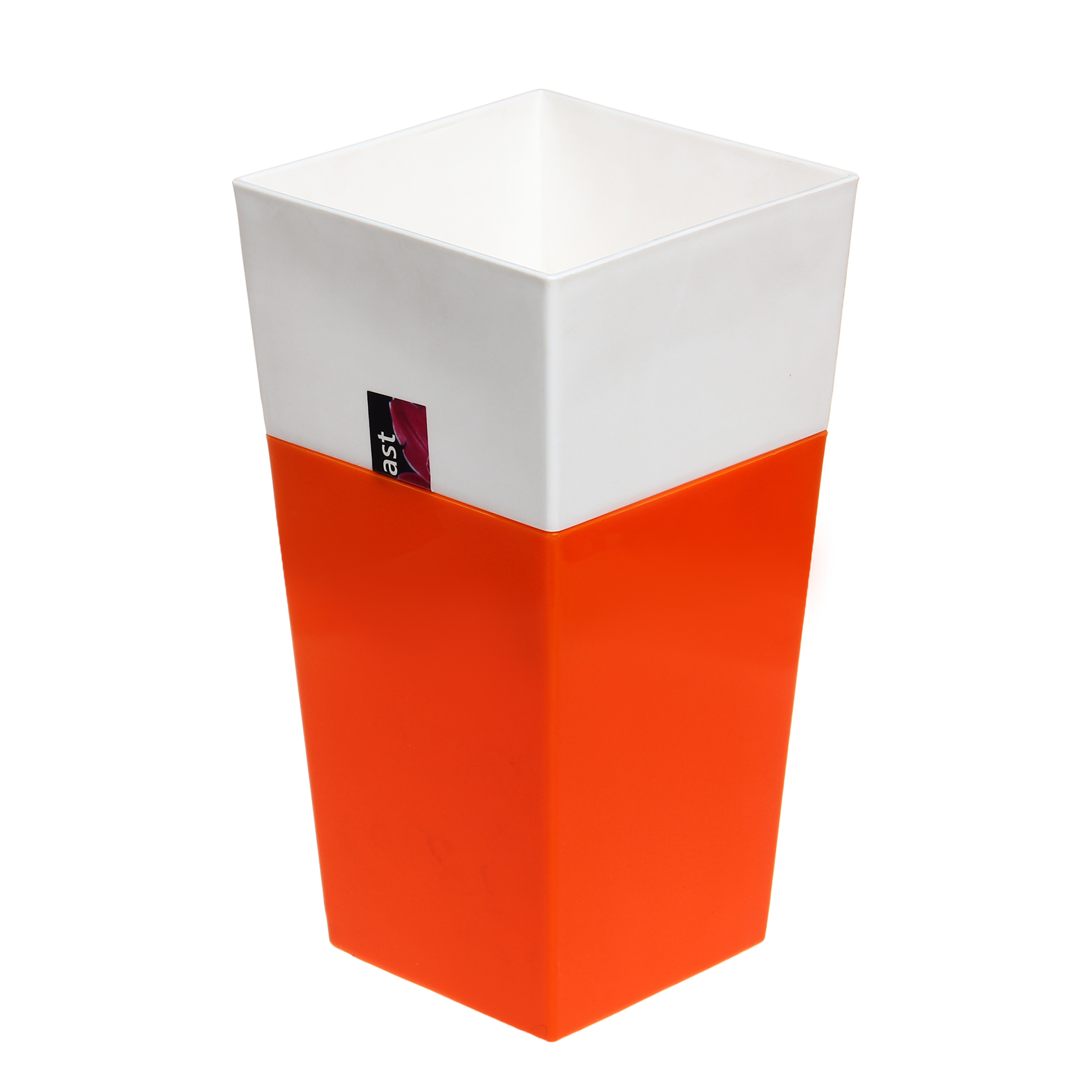 Кашпо Интерлинк дуэт 13x13 см оранжево-белый кашпо интерлинк волна 12 см бирюзовый