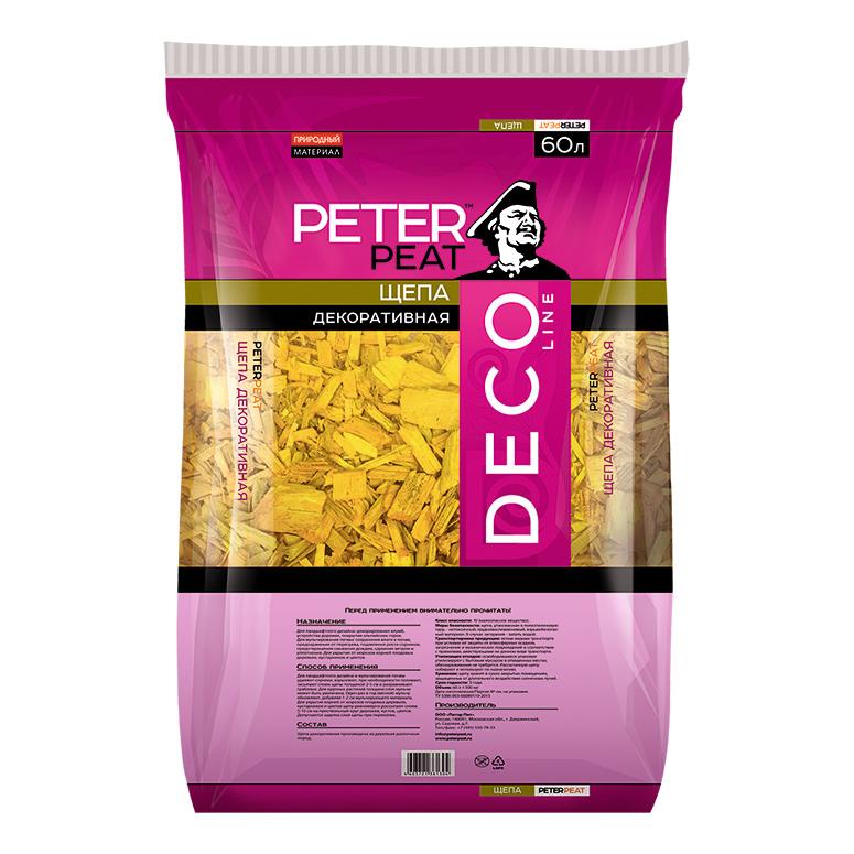 Щепа декоративная желтая 60 л Peter Peat.