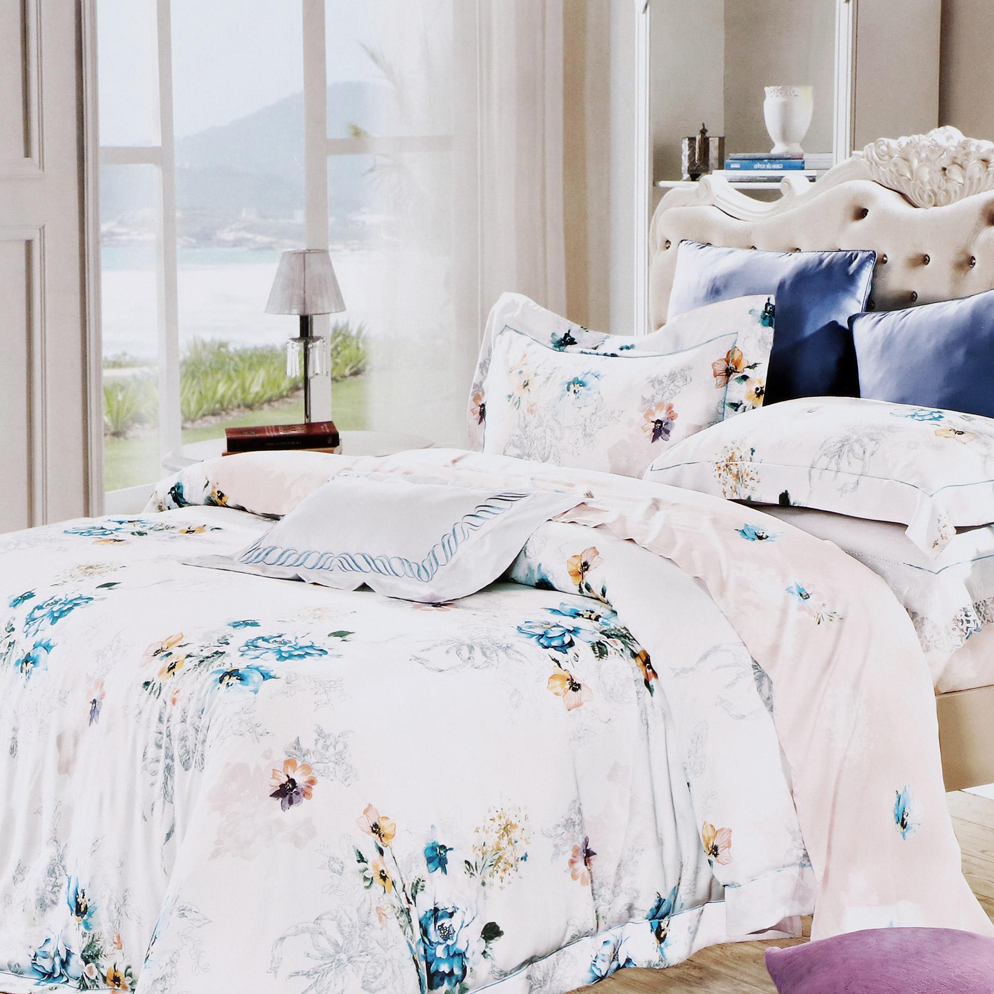 Купить Постельный комплект D'loale семейный, постельный комплект, Франция, цветной, тенсель