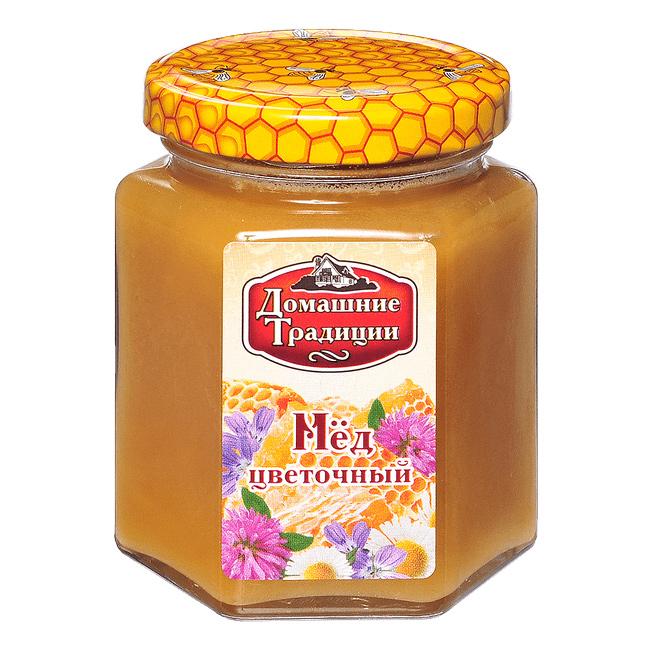 Мед цветочный Домашние Традиции ГОСТ 250 г мед дикий мед башкирский цветок цветочный 600 г
