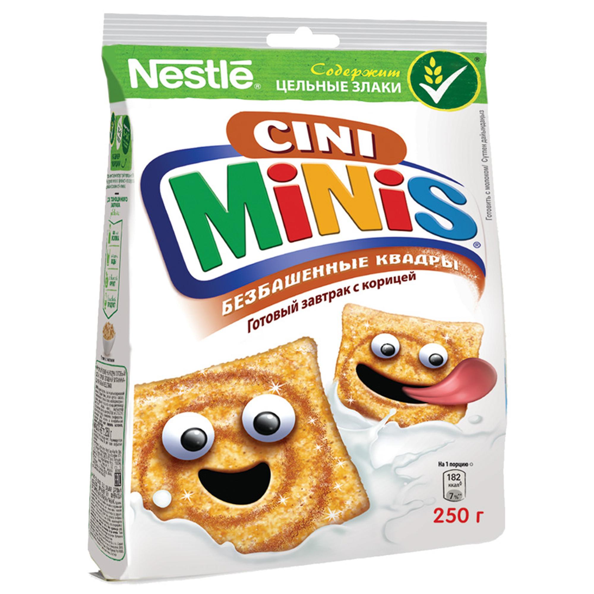 Готовый завтрак Cini Minis Безбашенные квадры с корицей 250 г недорого
