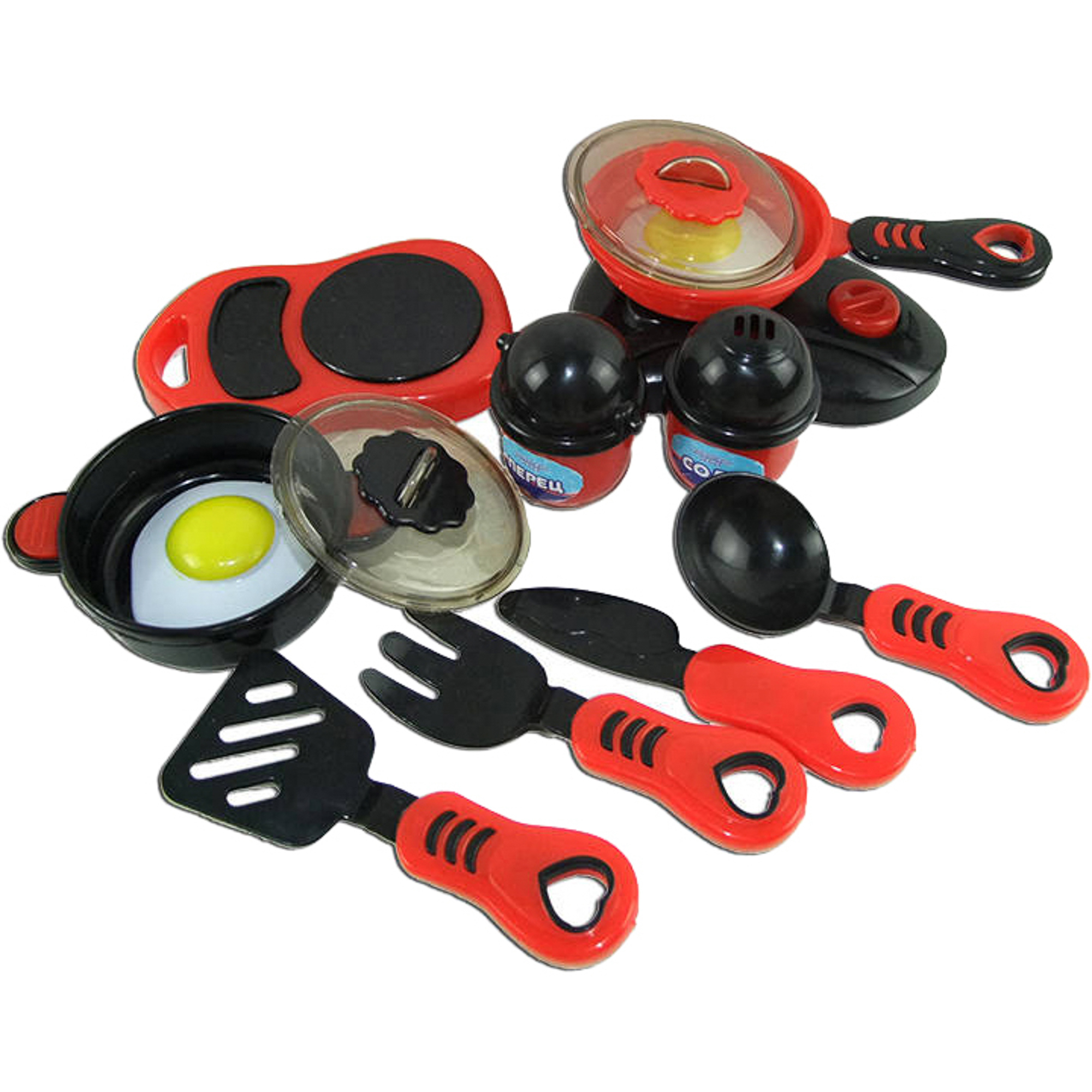 Игровой набор ABtoys Помогаю Маме Набор посуды для кухни с продуктами PT-00330
