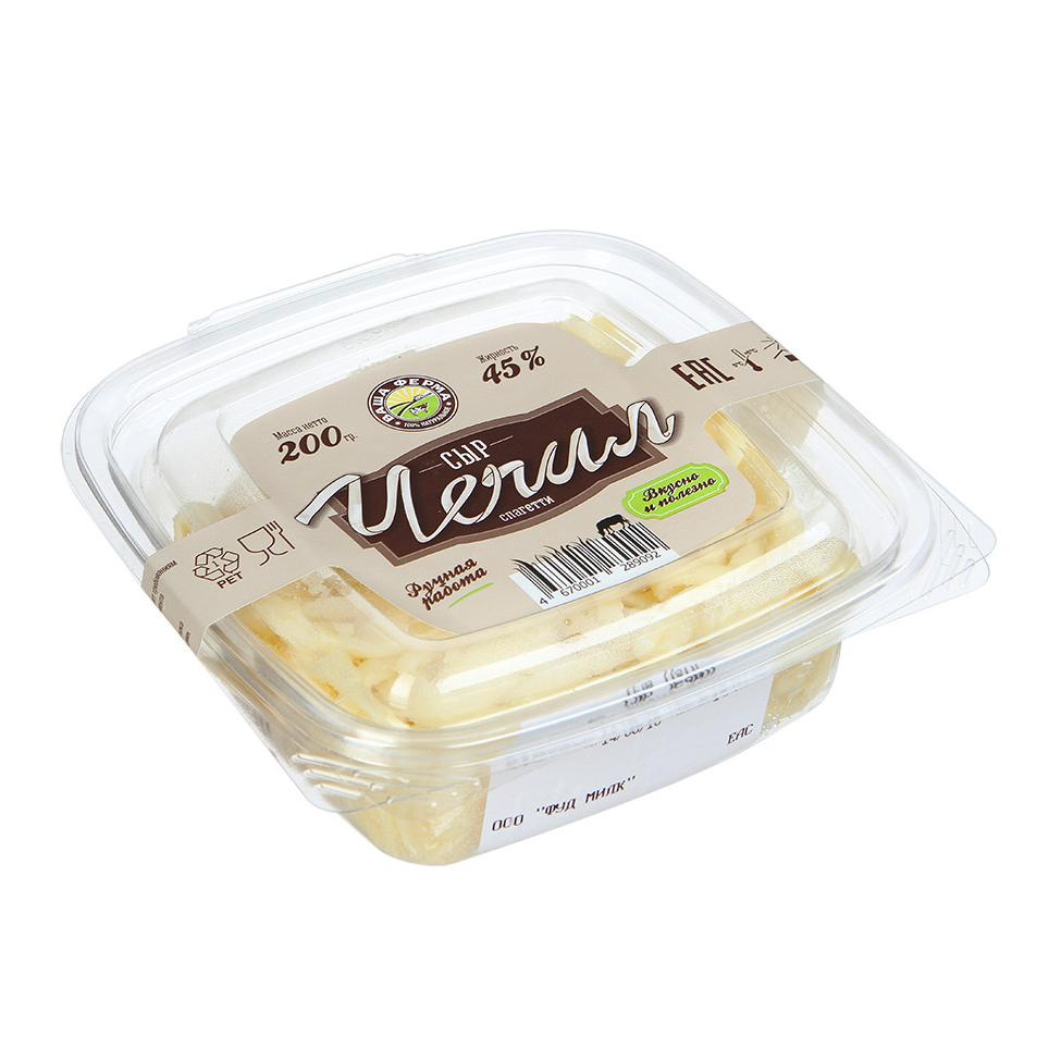 Сыр Ваша ферма Чечил спагетти 45% 200 г сыр рассольный красногвардейские чечил спагетти 40% 120 г