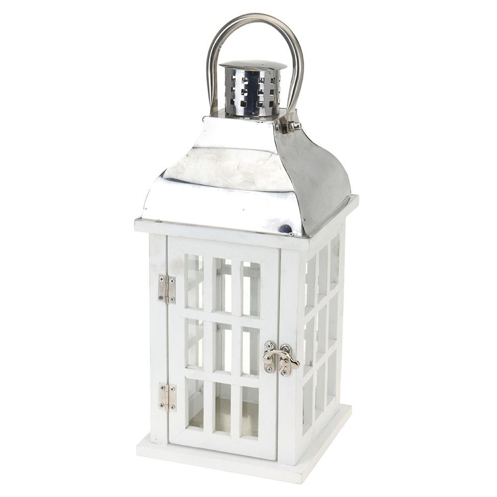 Подсвечник-фонарь Koopman 17х17х43 см белый