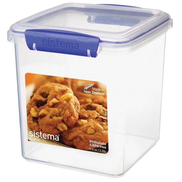 контейнер для печенья sistema 1 8 л 1333 Контейнер для печенья 2.35л Sistema klip it