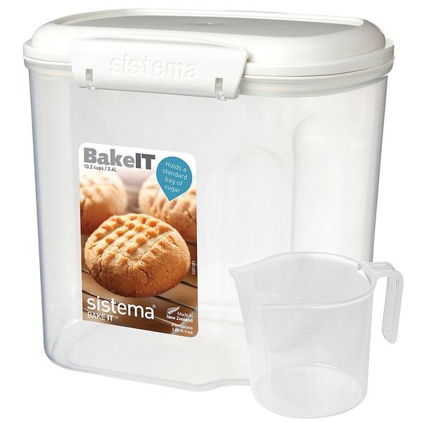 Фото - Контейнер 2.4л с чашкой Sistema bake it sistema контейнер с чашкой bake it 1250 13x17 5 см прозрачный