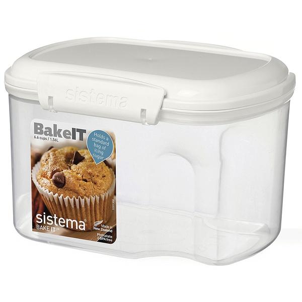Фото - Контейнер 1.56л с чашкой Sistema bake it sistema контейнер с чашкой bake it 1250 13x17 5 см прозрачный