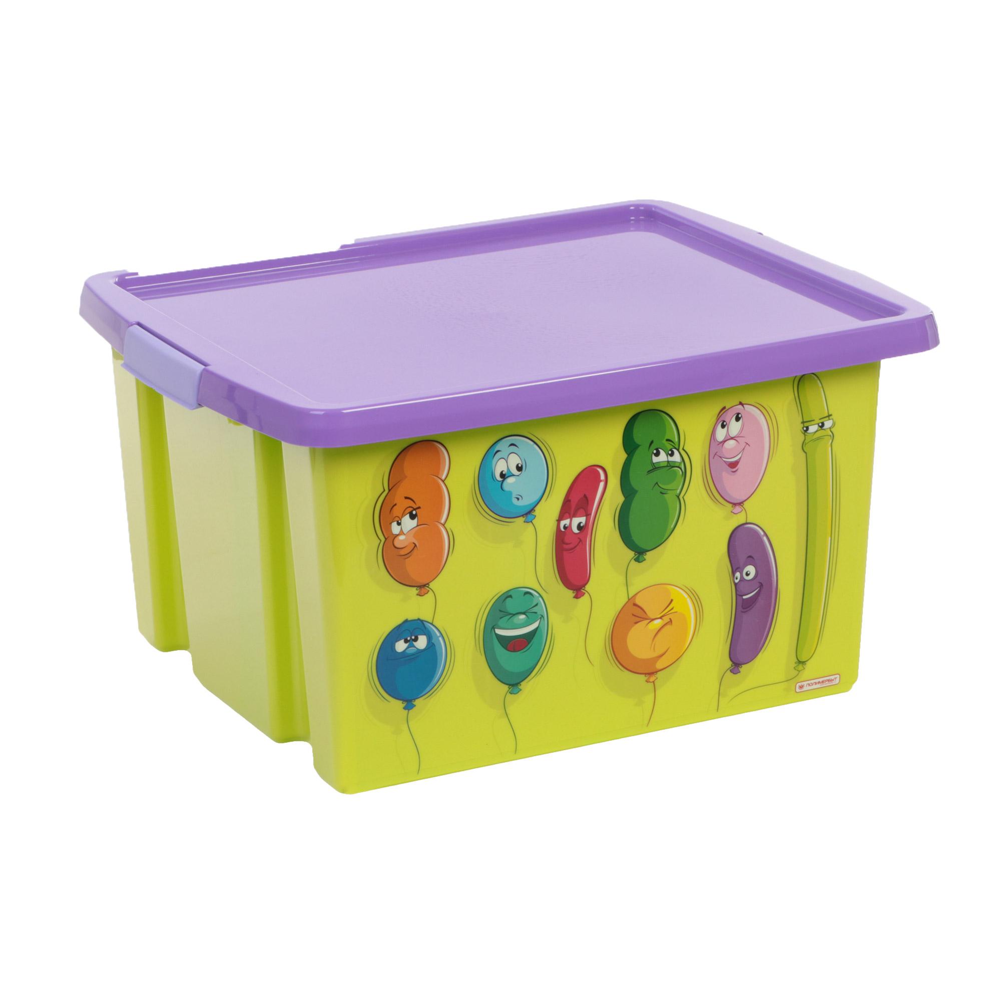 Ящик для игрушек с рисунком 30л Полимербыт ящик для игрушек полимербыт как приручить дракона 71747 16 л 37х26х20 7 см