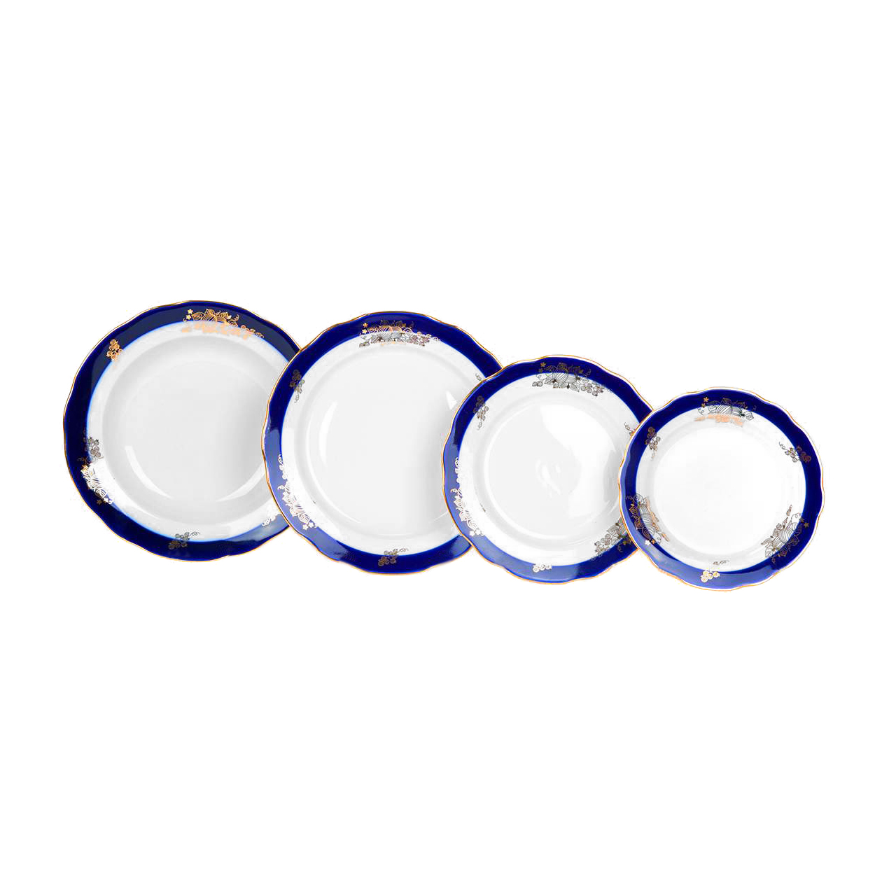 Набор тарелок Дулево Ягоды 6 персон 24 предмета
