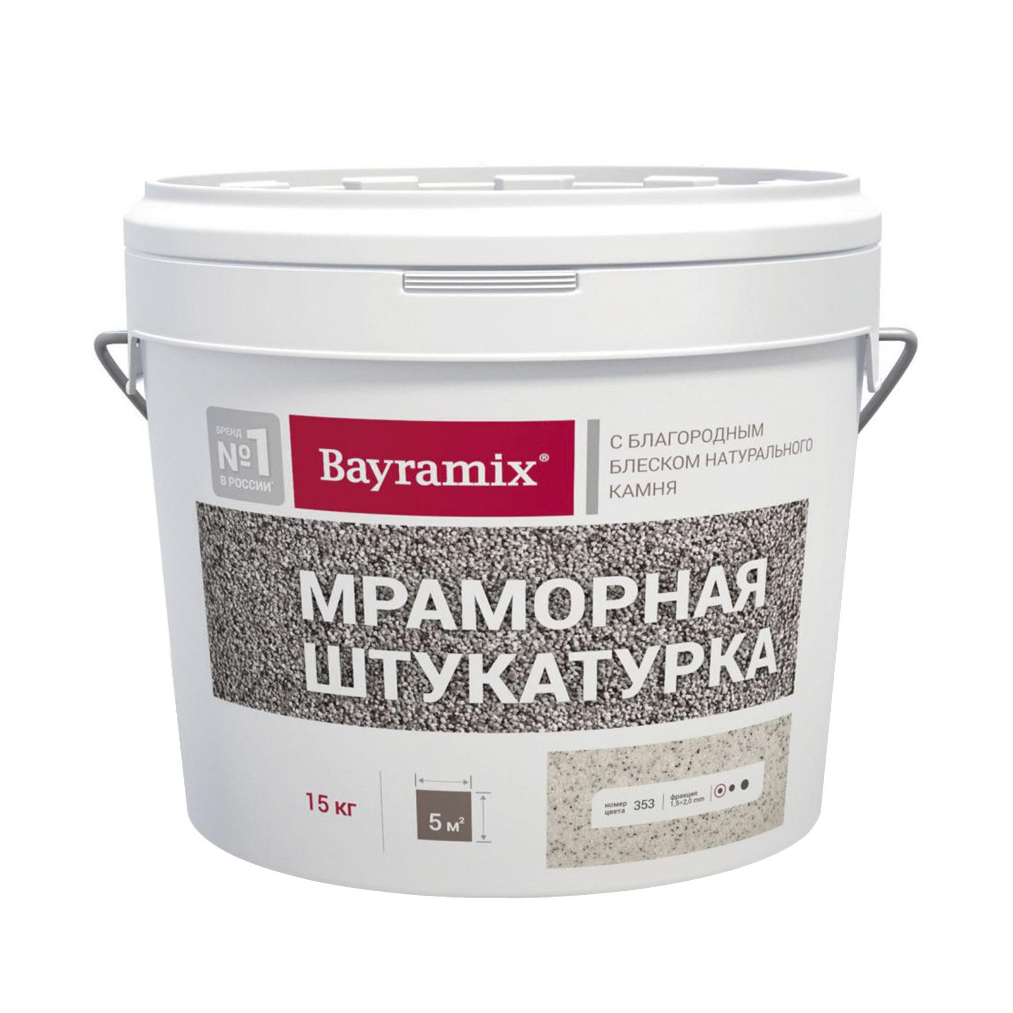 Штукатурка мраморная Bayramix Kashmir White N 15 кг