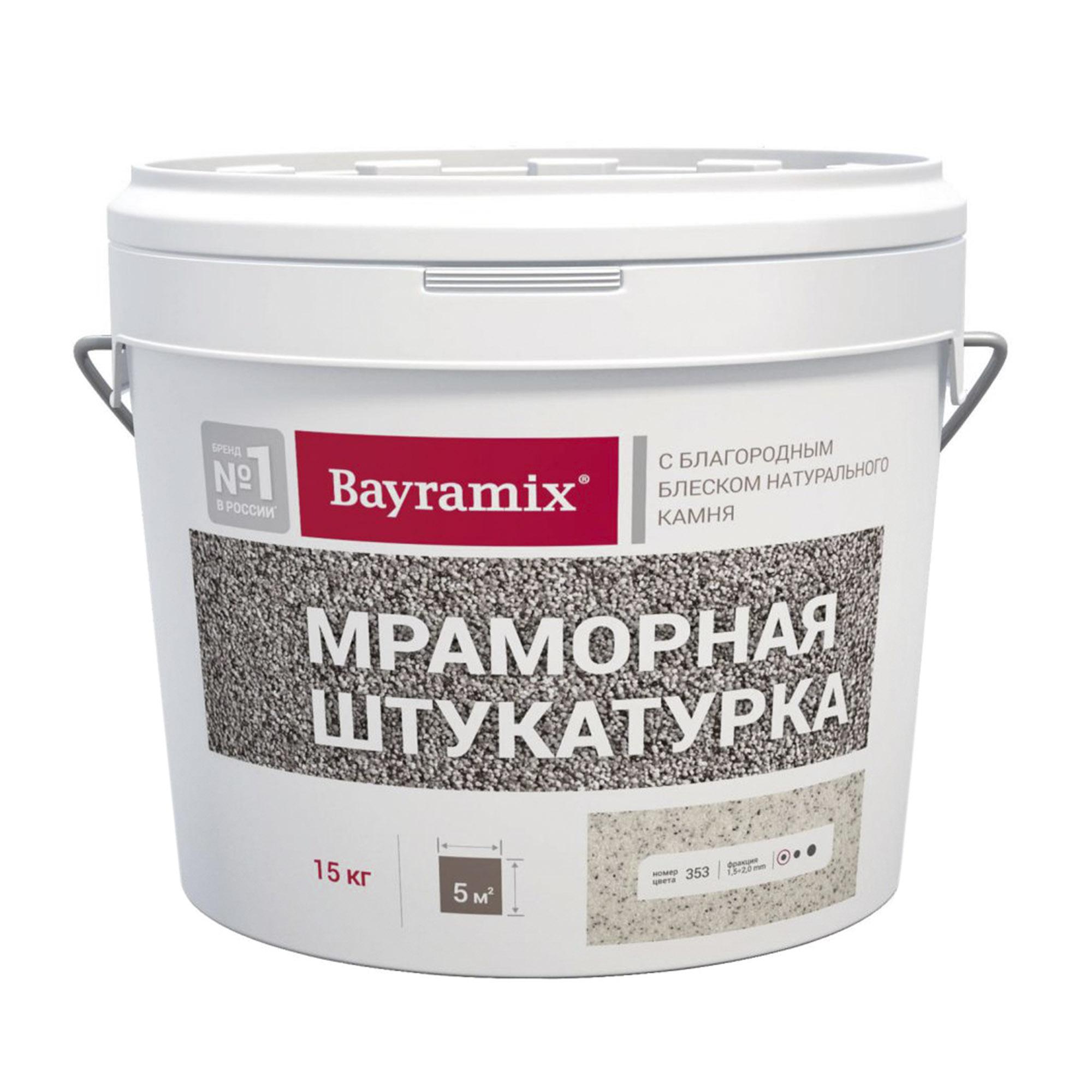 Штукатурка мраморная Bayramix Royal White N 15 кг