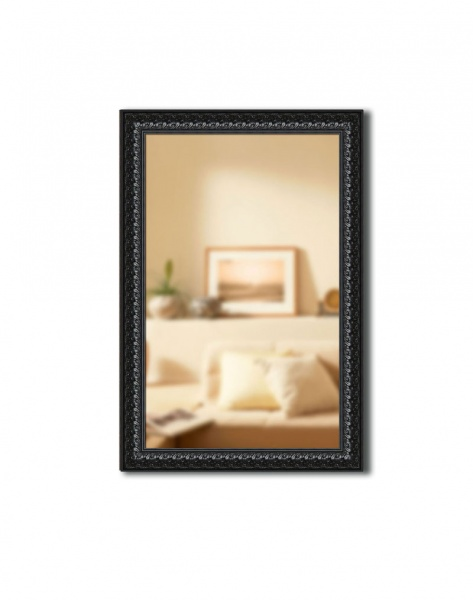 Зеркало в раме Gallery 53х85 см черный орнамент фото
