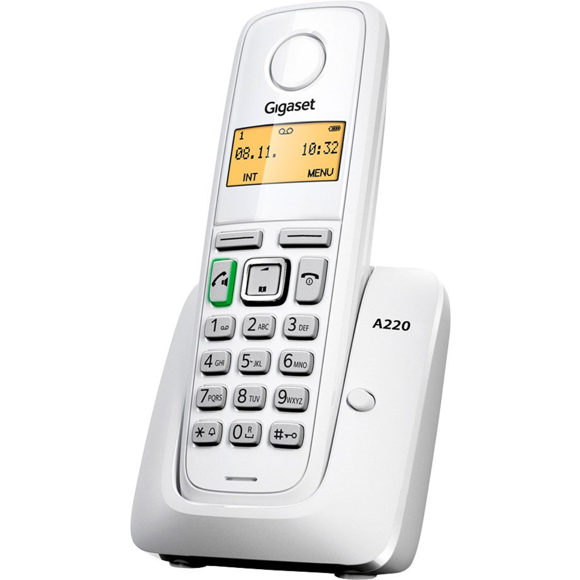 Стационарный телефон Gigaset A220 White
