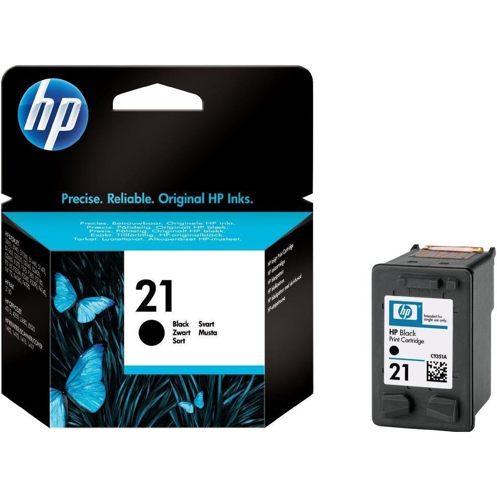 Фото - Картридж HP 21 (C9351AE) Black чернила краска для заправки принтера hp envy 6432 набор оптима
