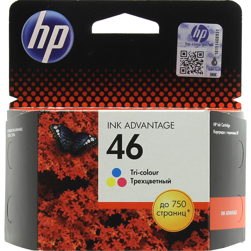 Фото - Картридж HP 46 (CZ638AE) Tri-color картридж hp 652 f6v24ae tri color