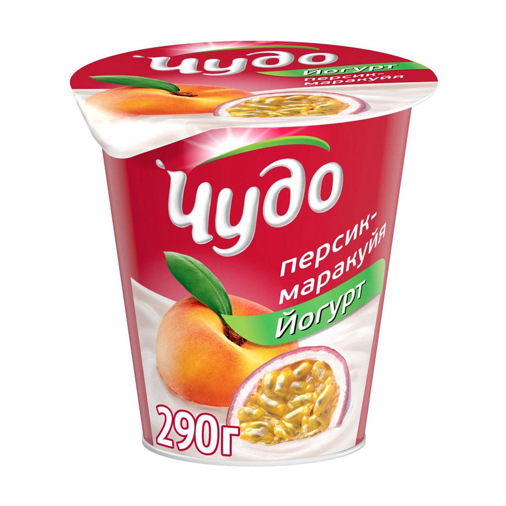 Фото - Йогурт Чудо Персик, маракуйя 2,5% 290 г аминокислоты elementica organic essential aminos персик маракуйя 200 г