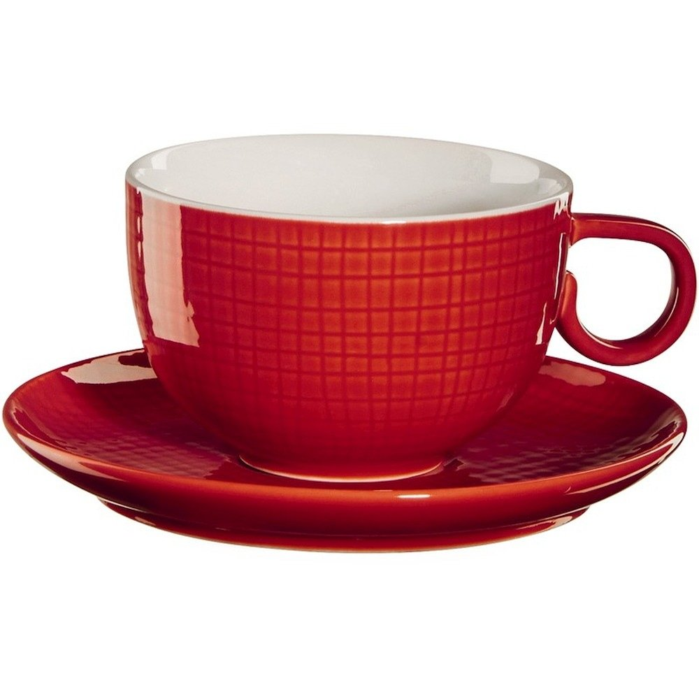 Фото - Чашка с блюдцем 210мл Красный Asa selection чашка с блюдцем 210мл серый asa selection
