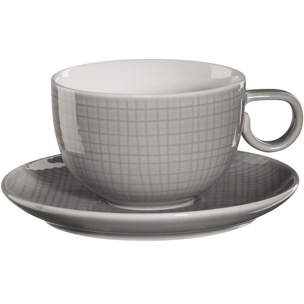 Фото - Чашка с блюдцем 210мл Серый Asa selection чашка с блюдцем 210мл серый asa selection