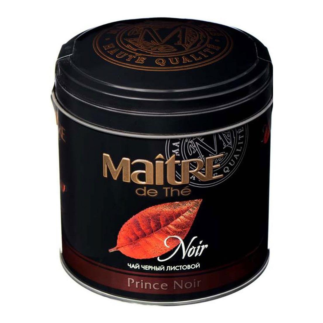 Чай черный Maitre de The Prince Noir листовой 150 г фото