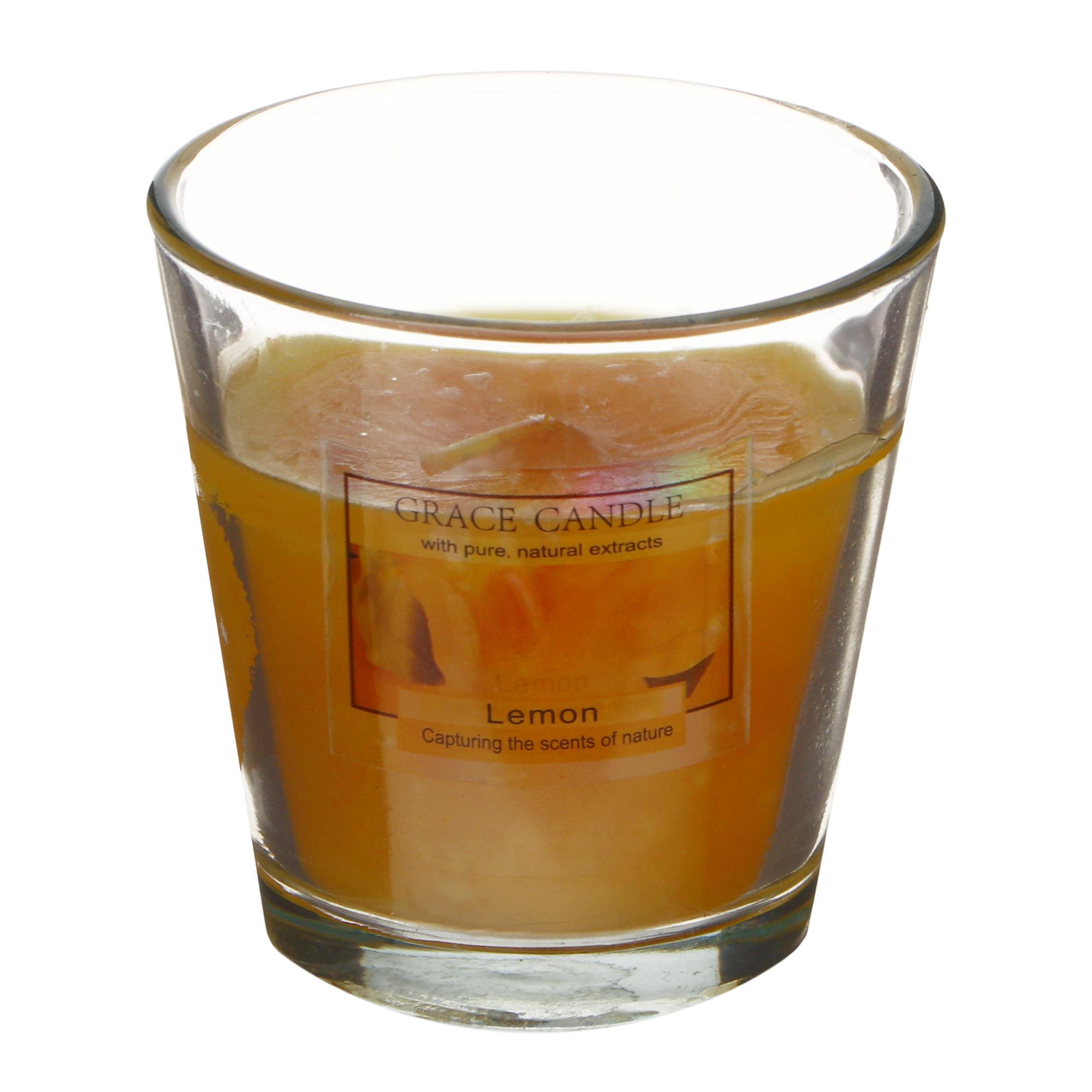 Свеча ароматизированная Sunford 6.5x6.5см лимон