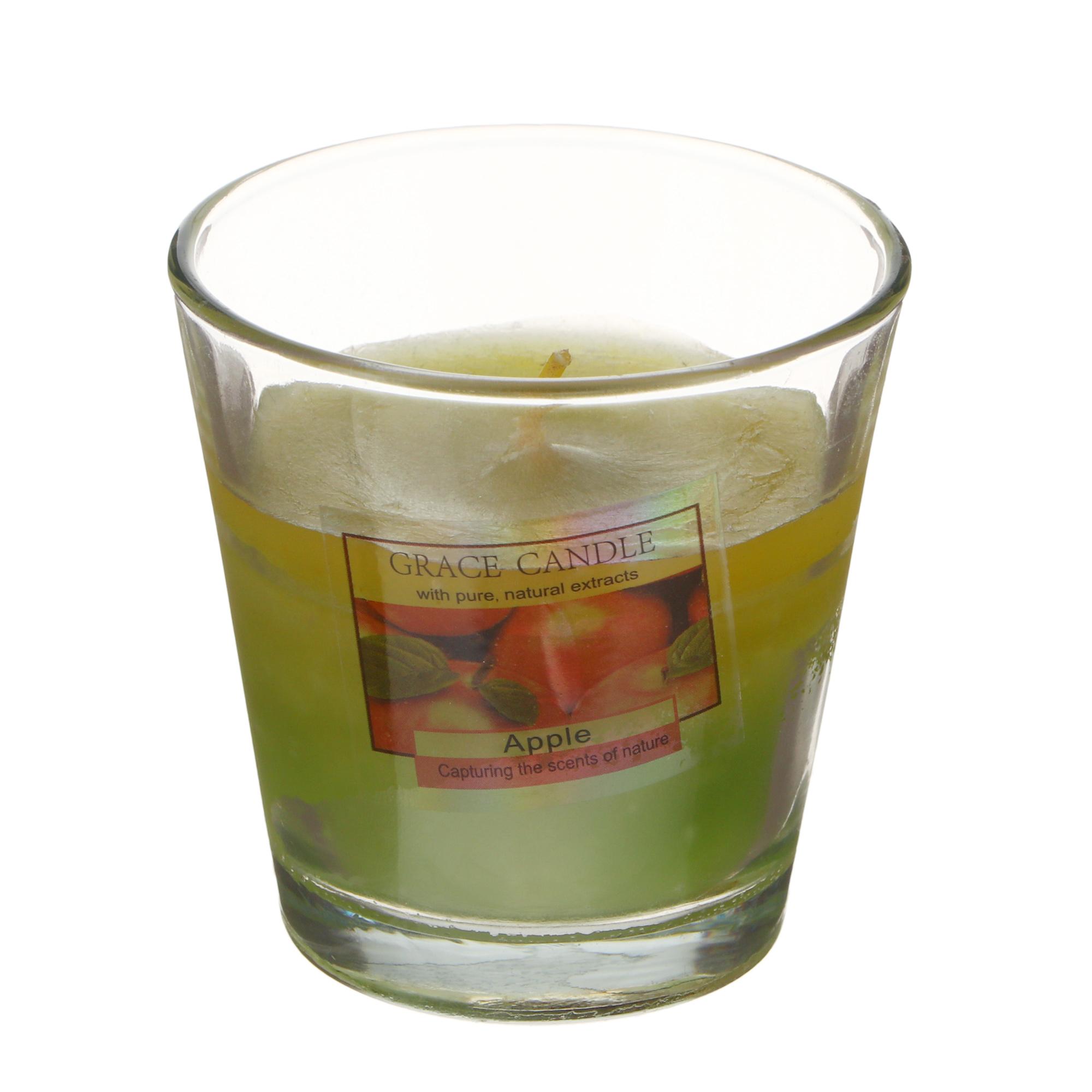 Свеча аромоматическая Sunford 6.5x6.5 см яблоко